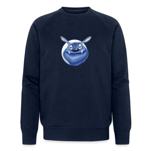 blaues Monster - Männer Bio-Sweatshirt