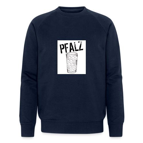 Pfalzshirt mit Dubbeglas, weiß - Männer Bio-Sweatshirt
