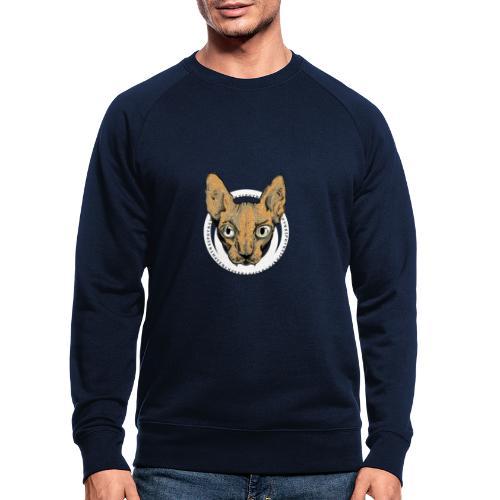 sphynx white bg - Ekologisk sweatshirt herr