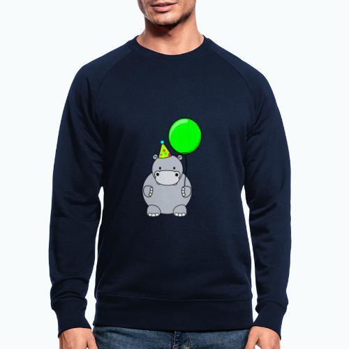 Henri Hippo Party - Appelsin - Ekologisk sweatshirt herr
