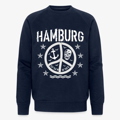 105 Hamburg Peace Anker Seil Koordinaten - Männer Bio-Sweatshirt von Stanley & Stella