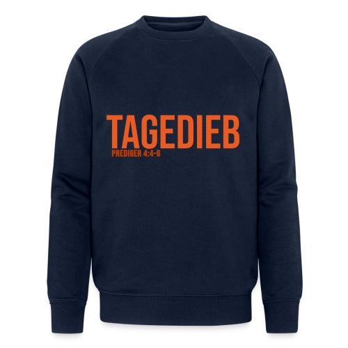 TAGEDIEB - Print in orange - Männer Bio-Sweatshirt