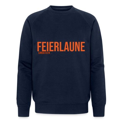 FEIERLAUNE - Print in orange - Männer Bio-Sweatshirt