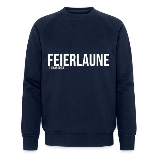 FEIERLAUNE - Print in weiß - Männer Bio-Sweatshirt