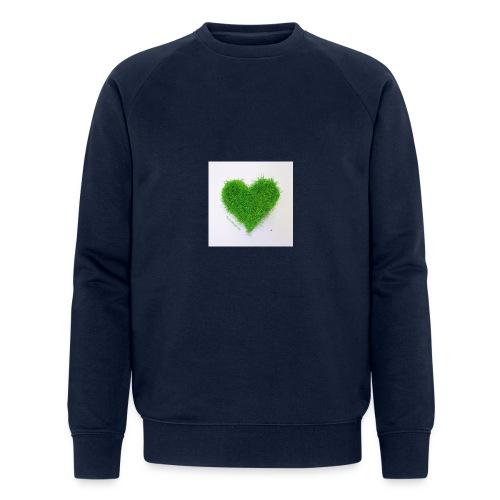 Herzrasen Button - Männer Bio-Sweatshirt von Stanley & Stella