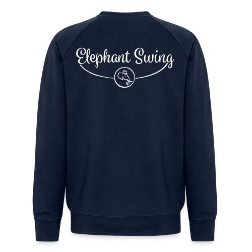 Elephant Swing Logo weiß - Männer Bio-Sweatshirt