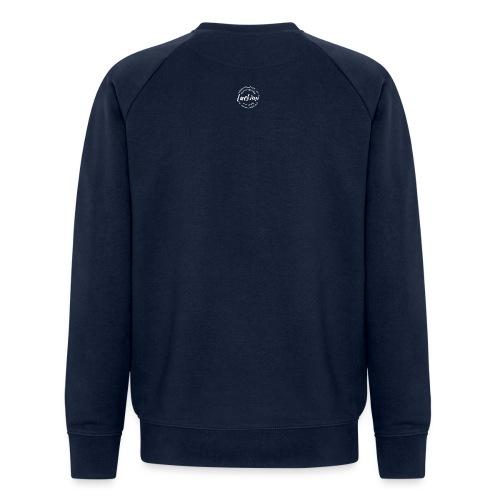 Luckimi logo white small circle on sleeve or back - Men's Organic Sweatshirt by Stanley & Stella