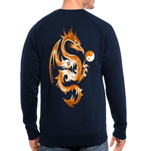 Der Drache spielt mit der Energie des Lebens. - Männer Bio-Sweatshirt
