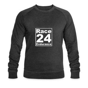 Race24 Logo - White - Men's Organic Sweatshirt by Stanley & Stella