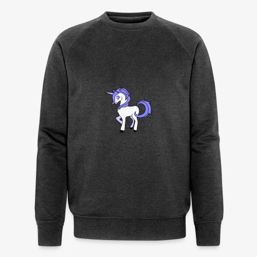 Lila Einhorn - Männer Bio-Sweatshirt von Stanley & Stella