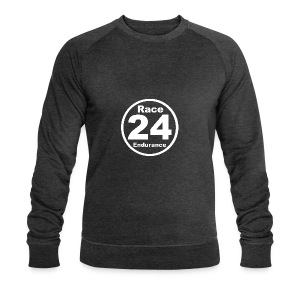 Race24 round logo white - Men's Organic Sweatshirt by Stanley & Stella