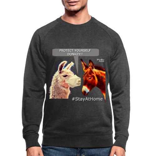 Protect Yourself Donkey - Coronavirus - Sweat-shirt bio