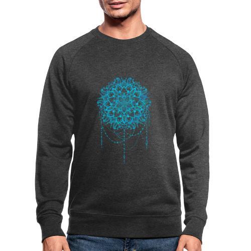 Blue mandala - Økologisk sweatshirt til herrer