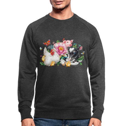 animals summer - Men's Organic Sweatshirt