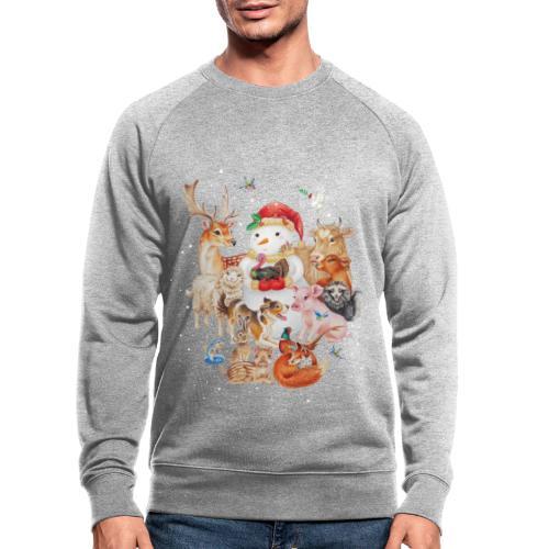 winter animals - Men's Organic Sweatshirt