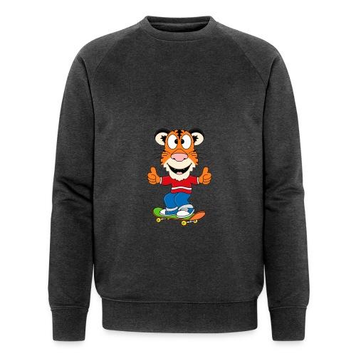 Lustiger Tiger - Skateboard - Sport - Kids - Baby - Männer Bio-Sweatshirt von Stanley & Stella