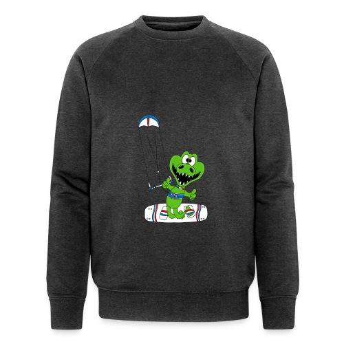 Lustiges Krokodil - Kite - Kiter - Kitesurfer - Männer Bio-Sweatshirt von Stanley & Stella