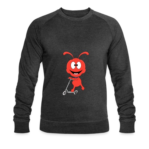 Lustige Ameise - Roller - Sport - Kind - Baby - Männer Bio-Sweatshirt von Stanley & Stella