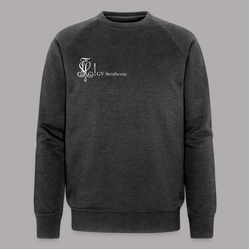 Zirkel mit Name, weiss (vorne) - Männer Bio-Sweatshirt