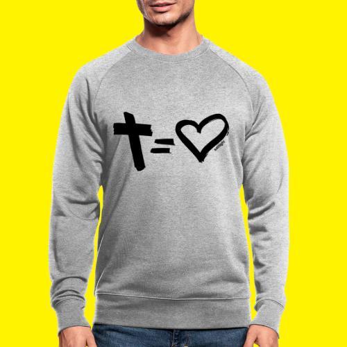 Cross = Heart BLACK - Men's Organic Sweatshirt