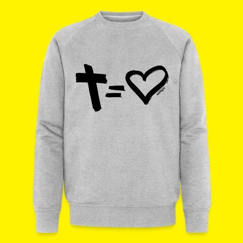 Cross = Heart BLACK - Men's Organic Sweatshirt by Stanley & Stella