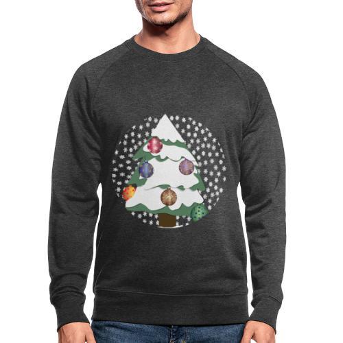 Christmas tree in snowstorm - Men's Organic Sweatshirt