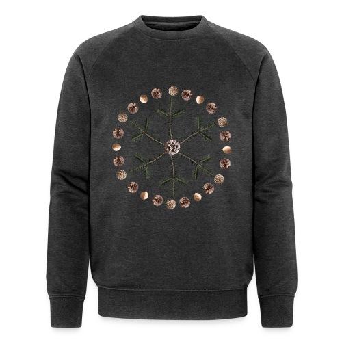 Winter Mandala Schneeflocke - Männer Bio-Sweatshirt