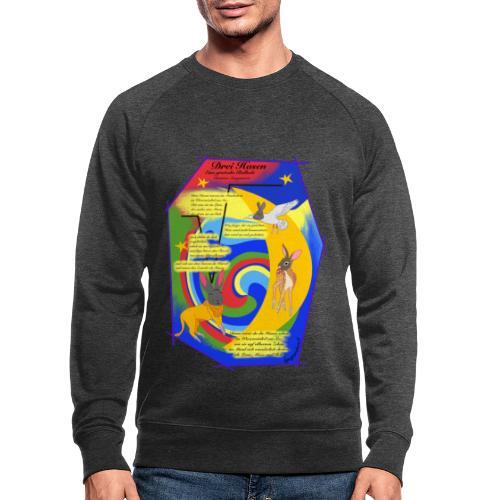 Drei Hasen (Christian Morgenstern) - Männer Bio-Sweatshirt