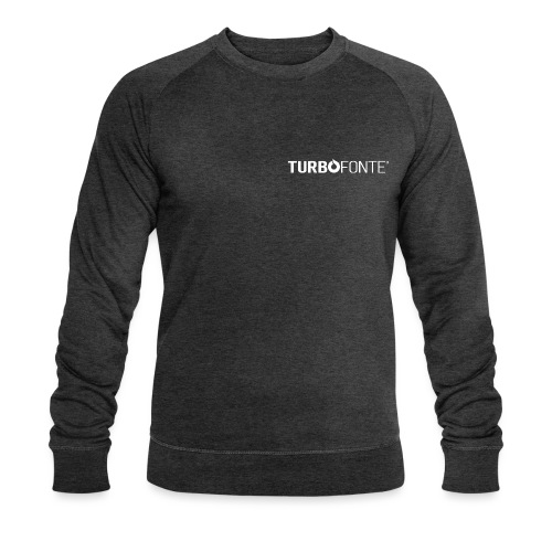 TurboFONTE logo CMJN simple blanc png - Sweat-shirt bio