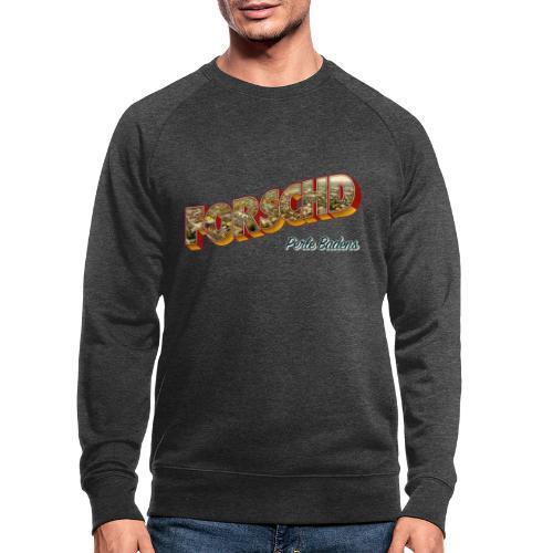 Forschd - Perle Badens - Vintage-Logo mit Luftbild - Männer Bio-Sweatshirt