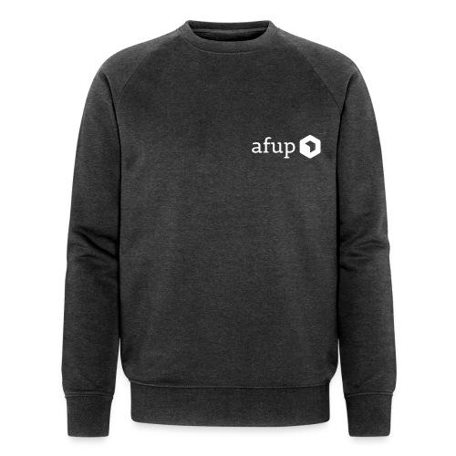 Le logo AFUP en blanc - Sweat-shirt bio Stanley & Stella Homme