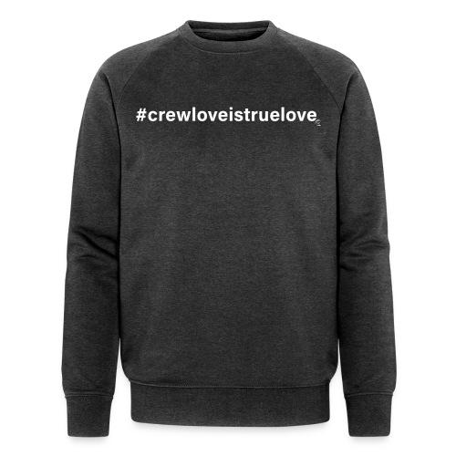 #crewloveistruelove white - Männer Bio-Sweatshirt von Stanley & Stella