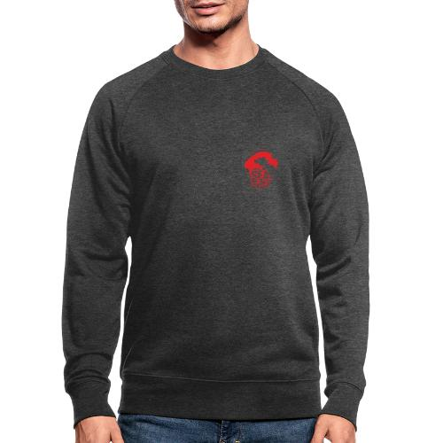 Sea of red logo - small red - Men's Organic Sweatshirt