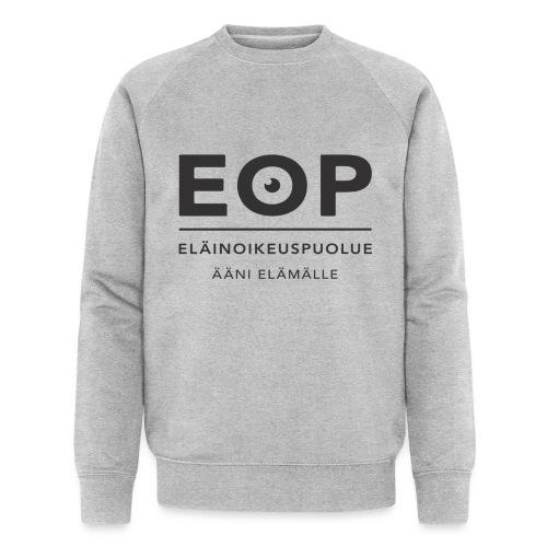EOP Logo slogan musta - Miesten luomucollegepaita