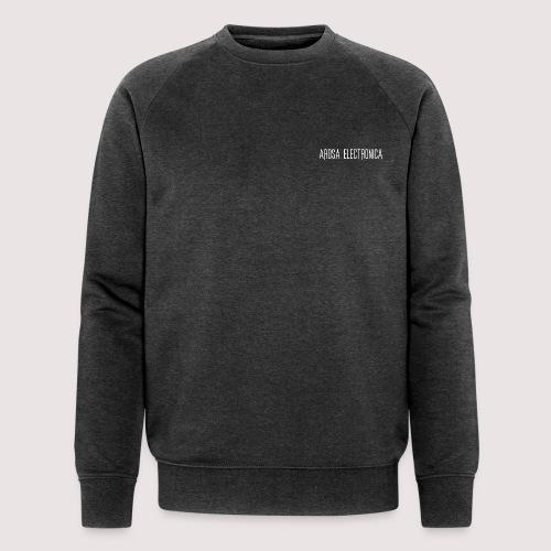 Schrift Weiss - Männer Bio-Sweatshirt
