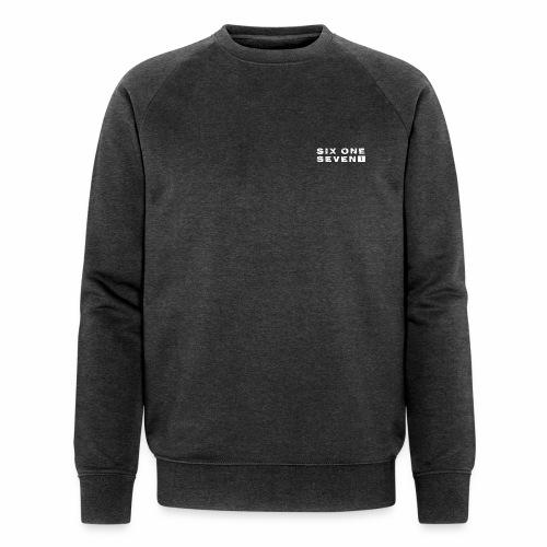 SIX ONE SEVEN 1 PROJECT LOGO FULL 1 WHITE - Men's Organic Sweatshirt by Stanley & Stella