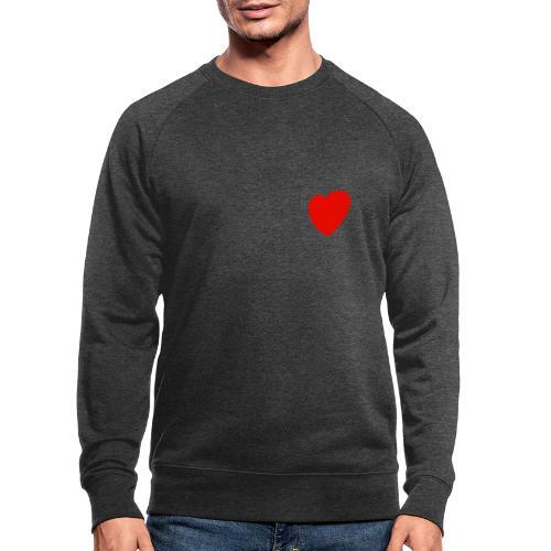 Herz - Männer Bio-Sweatshirt