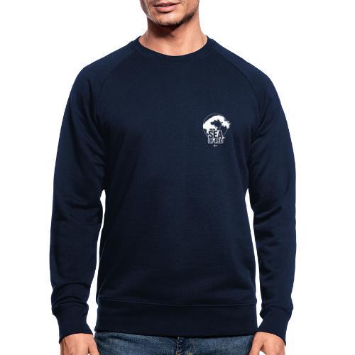 Sea of red logo - white small - Men's Organic Sweatshirt