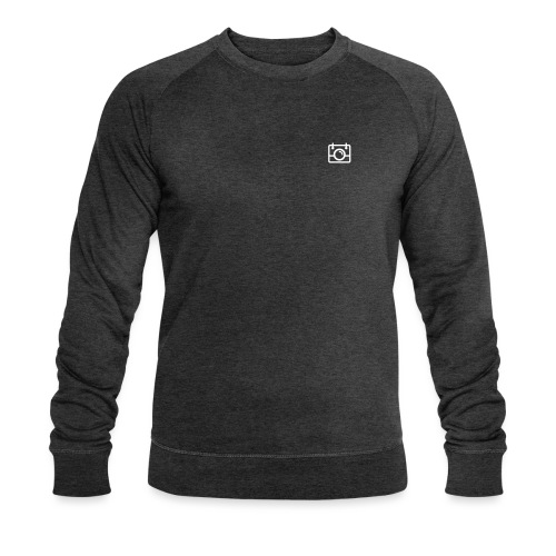 White AYWMC Camera logo - Men's Organic Sweatshirt by Stanley & Stella