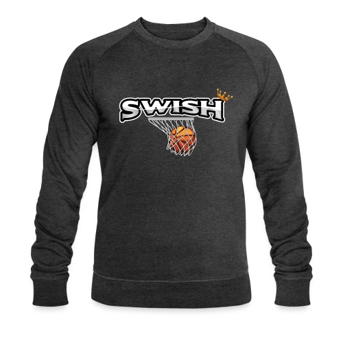 The king of swish - For basketball players - Men's Organic Sweatshirt