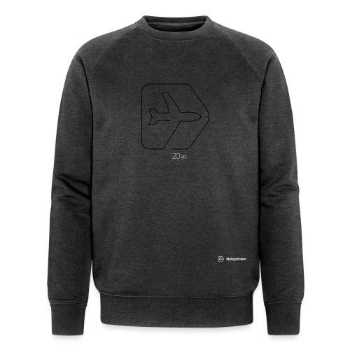 Netzpiloten Logo weiss - Männer Bio-Sweatshirt von Stanley & Stella