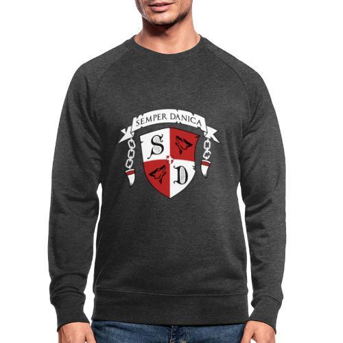 SD logo - hvide lænker - Økologisk sweatshirt til herrer
