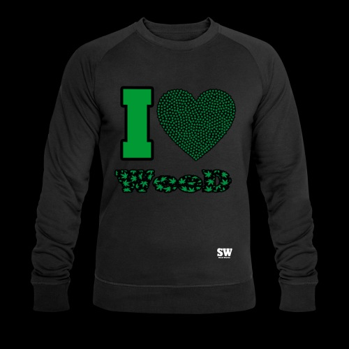 I Love weed - Sweat-shirt bio Stanley & Stella Homme