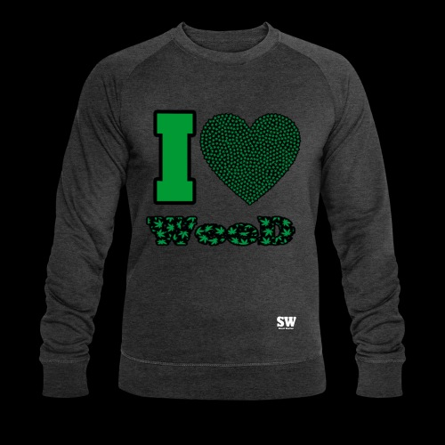I Love weed - Sweat-shirt bio Stanley & Stella Homme
