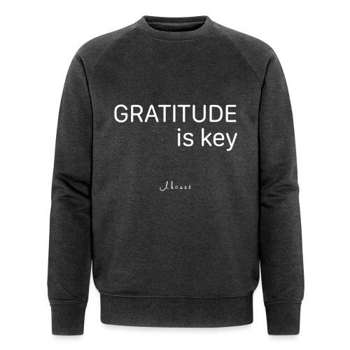 GRATITUDE is key - Men's Organic Sweatshirt