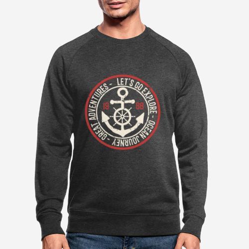 Entdecken Sie die Reise Abenteuer Ozean - Männer Bio-Sweatshirt