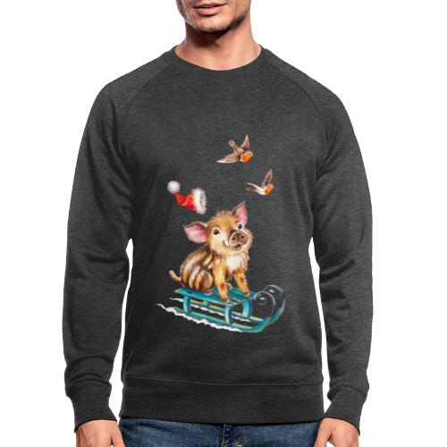 biggetje op slee - Men's Organic Sweatshirt