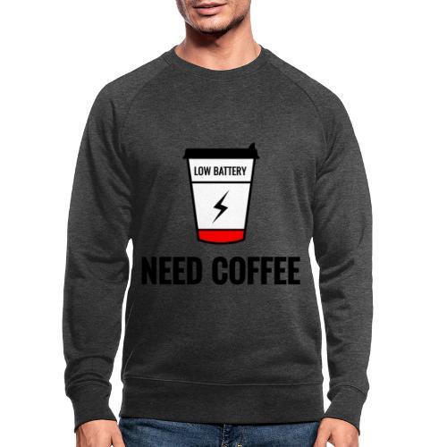 need coffee - Miesten luomucollegepaita