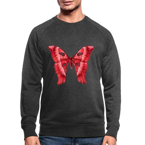 Herkules Falter Rot - Männer Bio-Sweatshirt