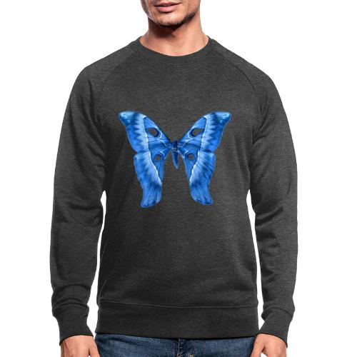 Herkules Falter Blau - Männer Bio-Sweatshirt